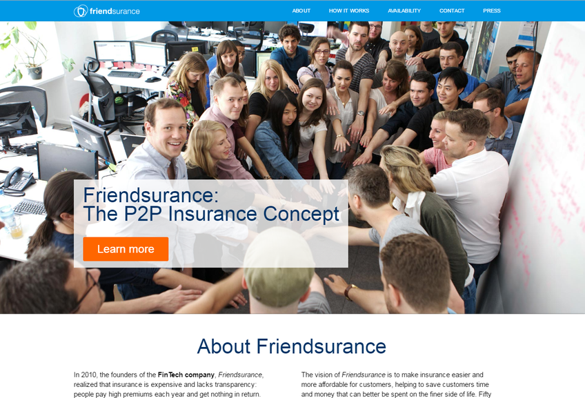 Friendsurance screenshot