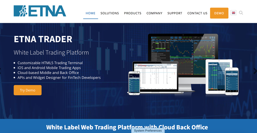 ETNA Trader screenshot
