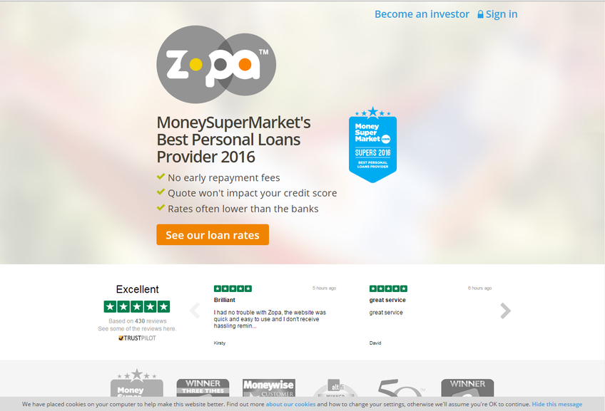 Zopa screenshot
