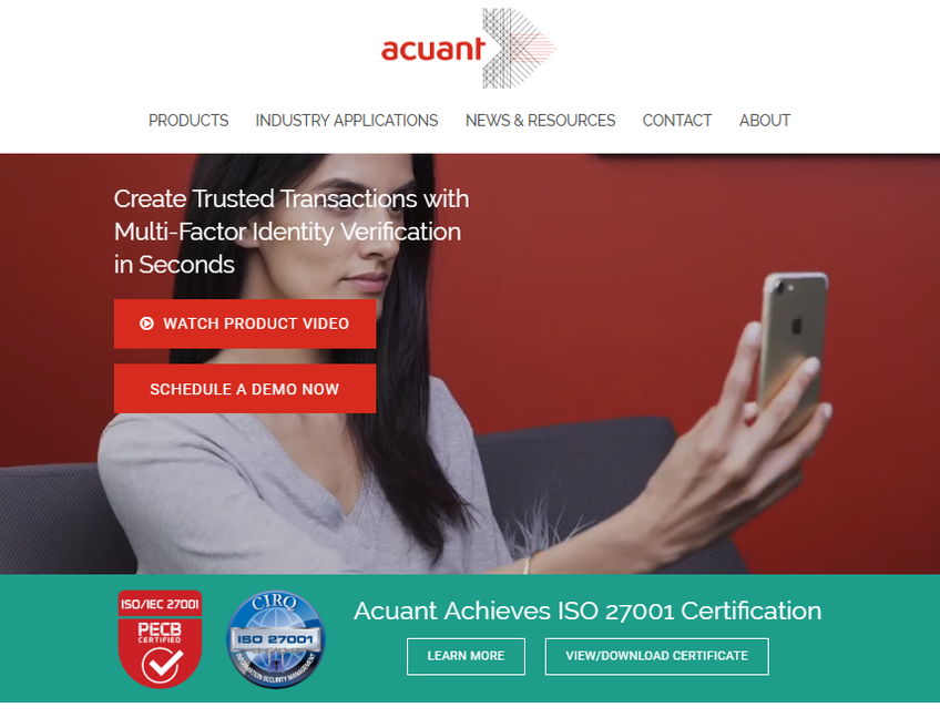 Acuant screenshot