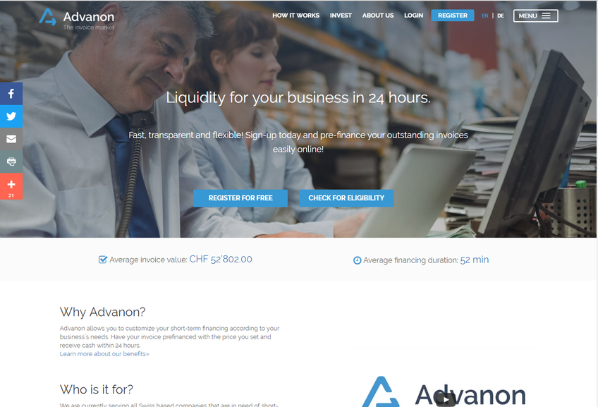 Advanon screenshot