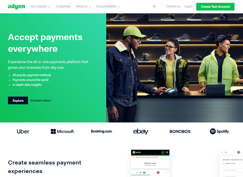 Adyen screenshot