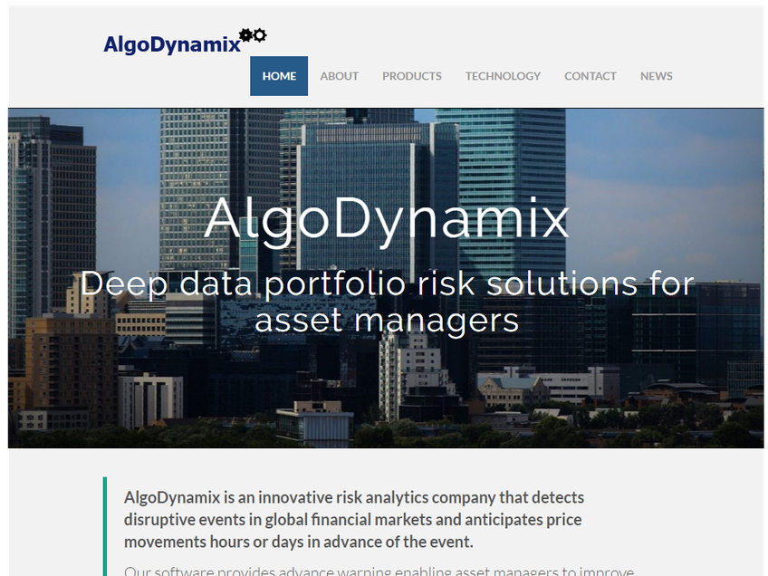 AlgoDynamix screenshot