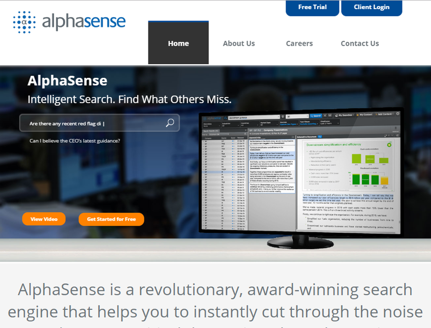AlphaSense screenshot