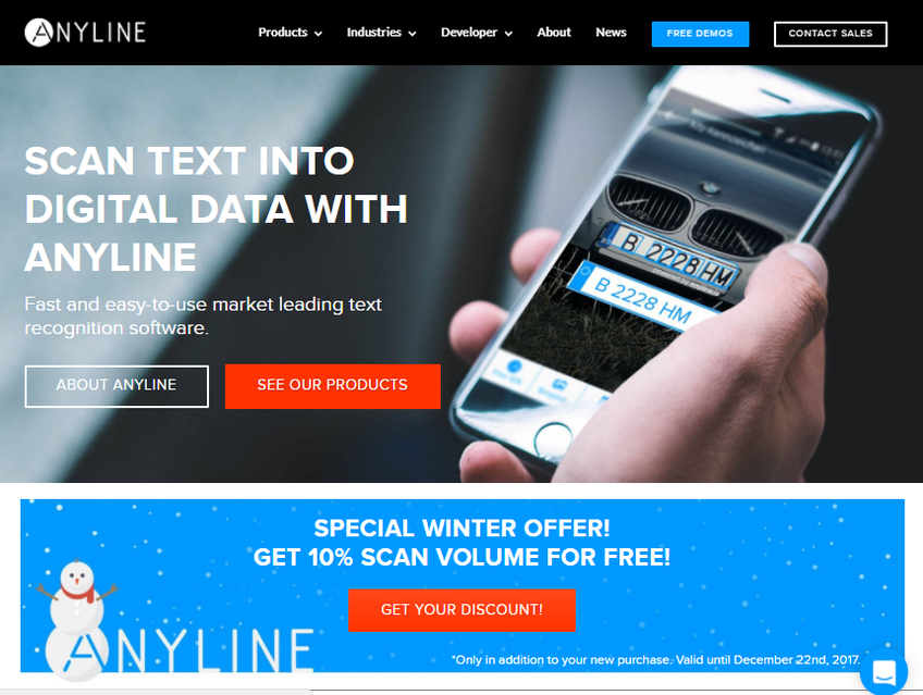 Anyline screenshot