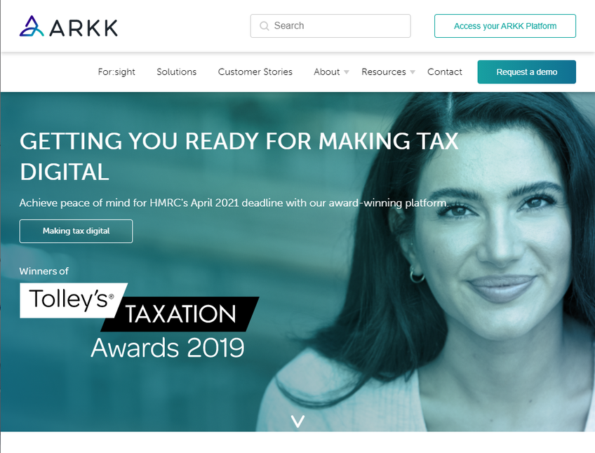 Arkk solutions screenshot