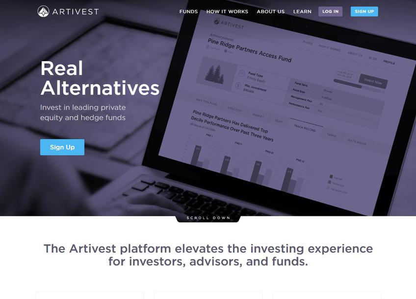Artivest screenshot