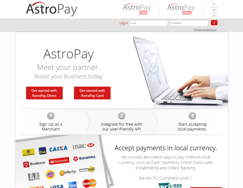 Astropay screenshot