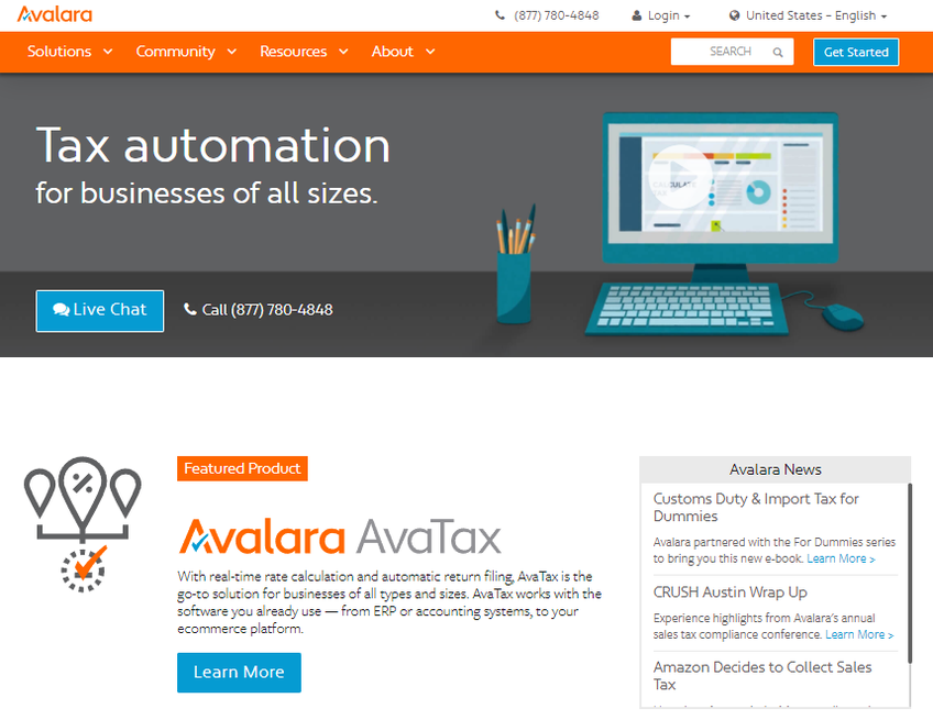 Avalara screenshot