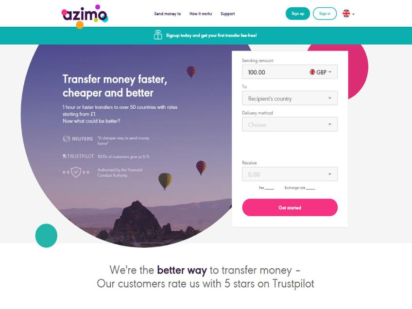 Azimo screenshot