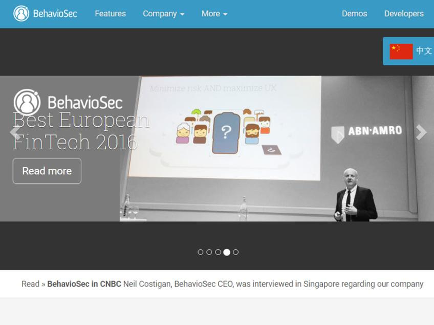 BehavioSec screenshot