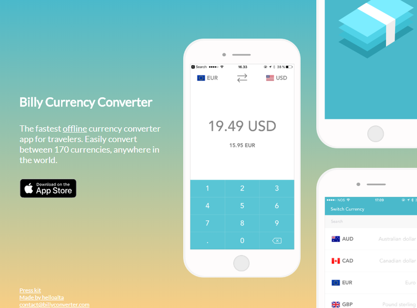 Billy Currency Converter screenshot