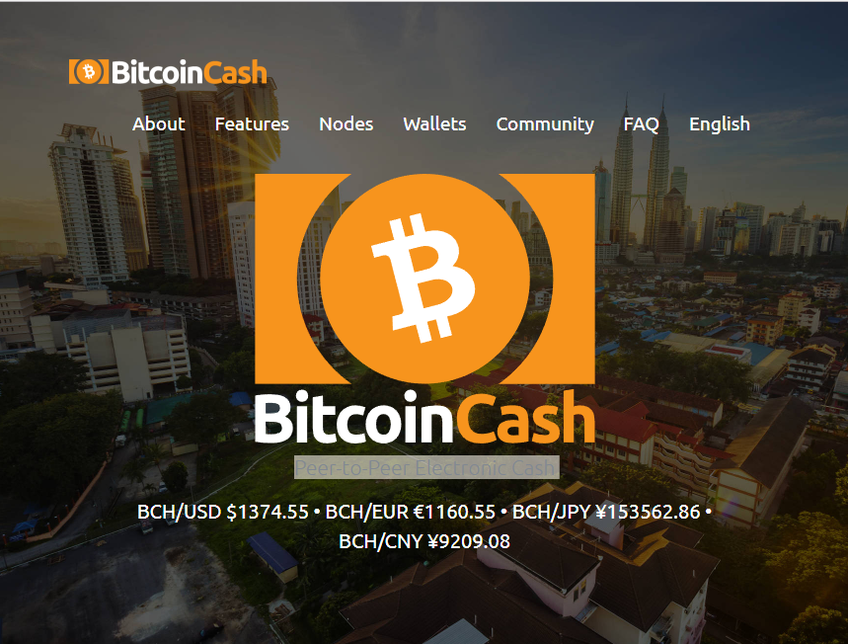 Bitcoin Cash screenshot