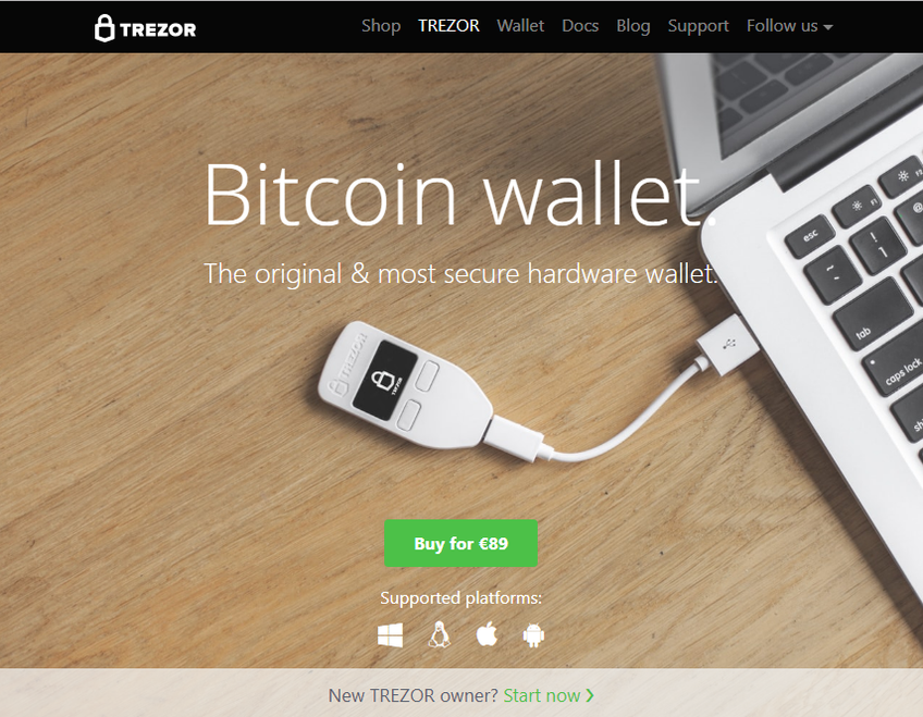 Trezor screenshot