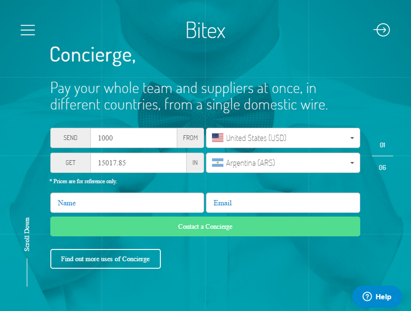Bitex screenshot