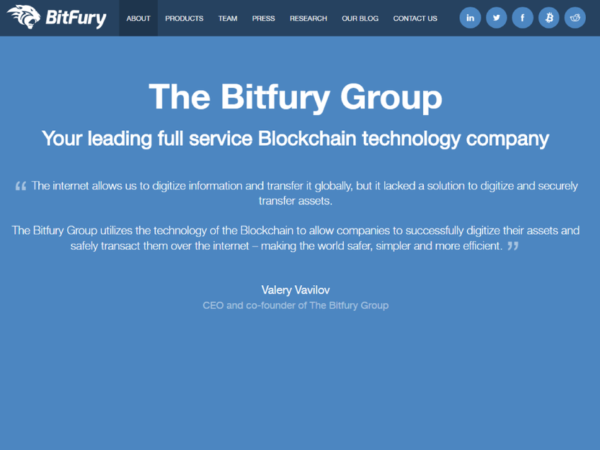 Bitfury screenshot