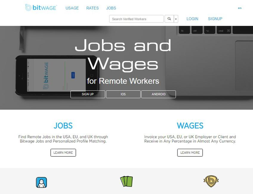 Bitwage screenshot