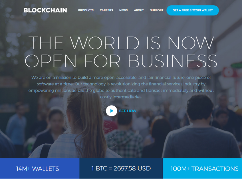 Blockchain screenshot