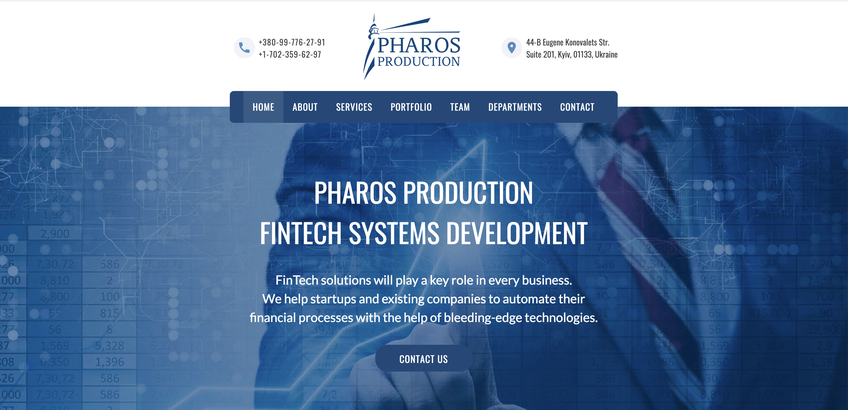 Blockchain Pharos Production FinTech & Blockchain software