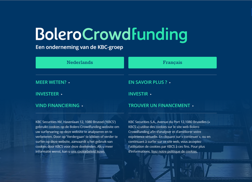 Bolero Crowdfunding screenshot