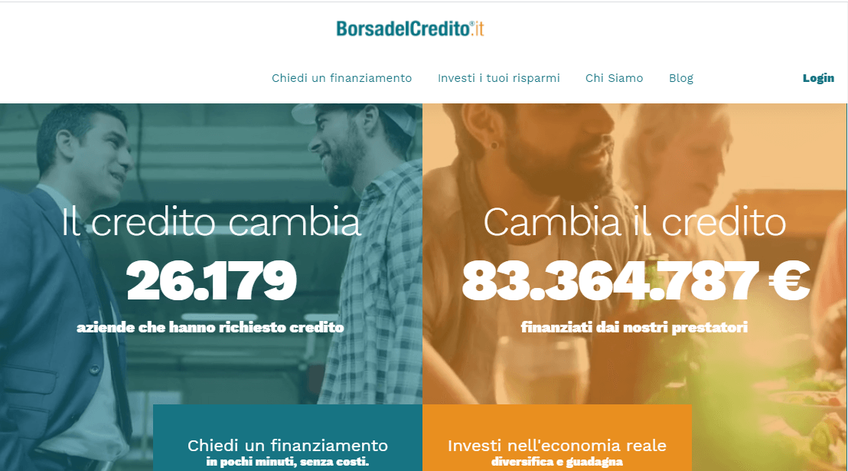 BorsadelCredito.it screenshot