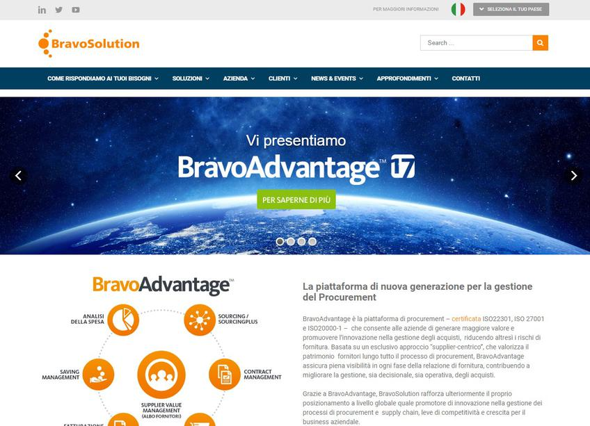 BravoSolution screenshot