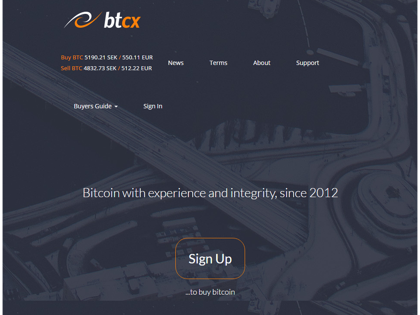BTCX screenshot