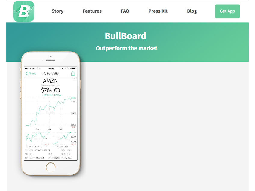 BullBoard screenshot