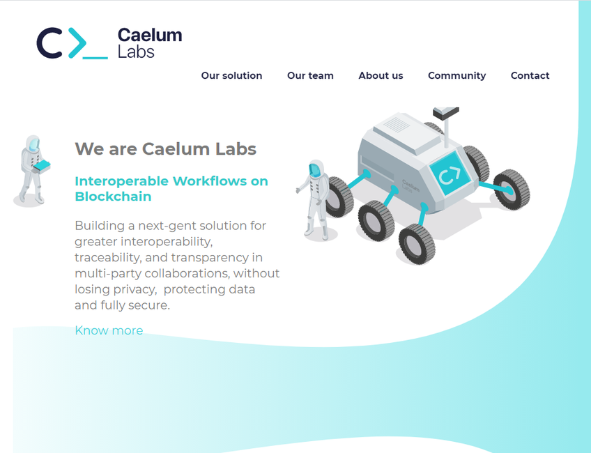 Caelum Labs screenshot