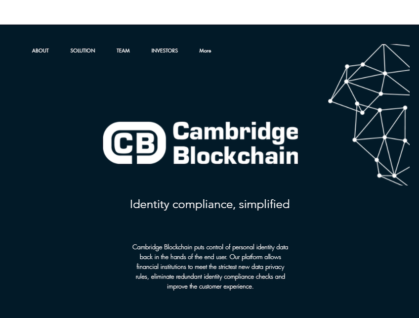 Cambridge Blockchain screenshot