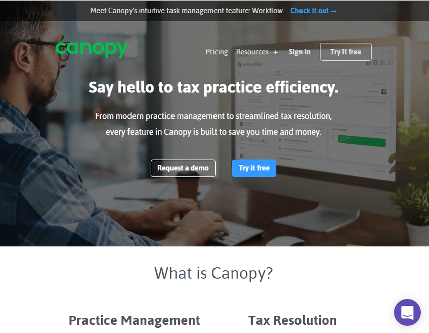 Canopytax screenshot