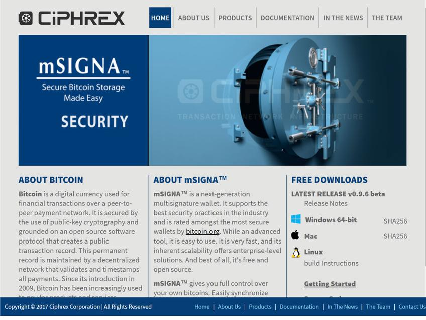 Ciphrex screenshot
