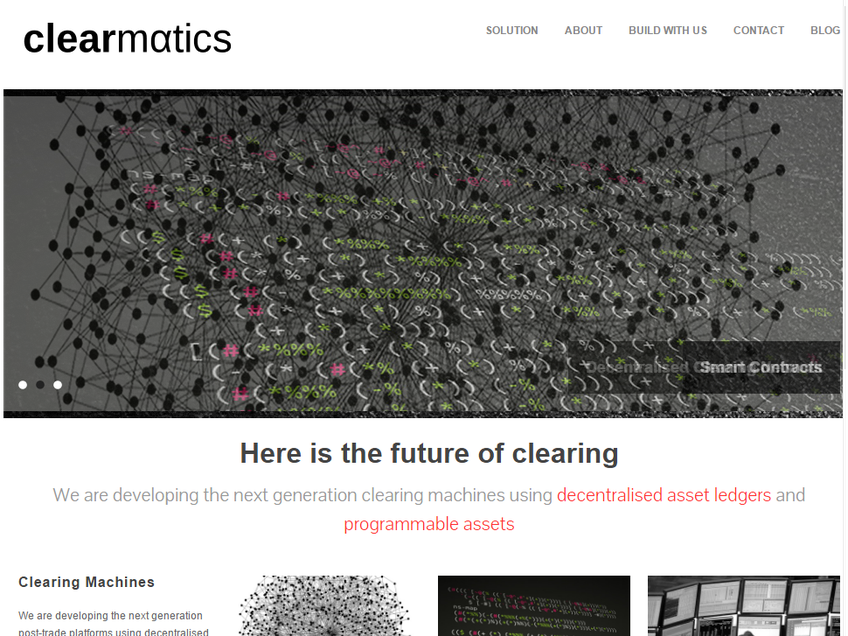 Clearmatics screenshot