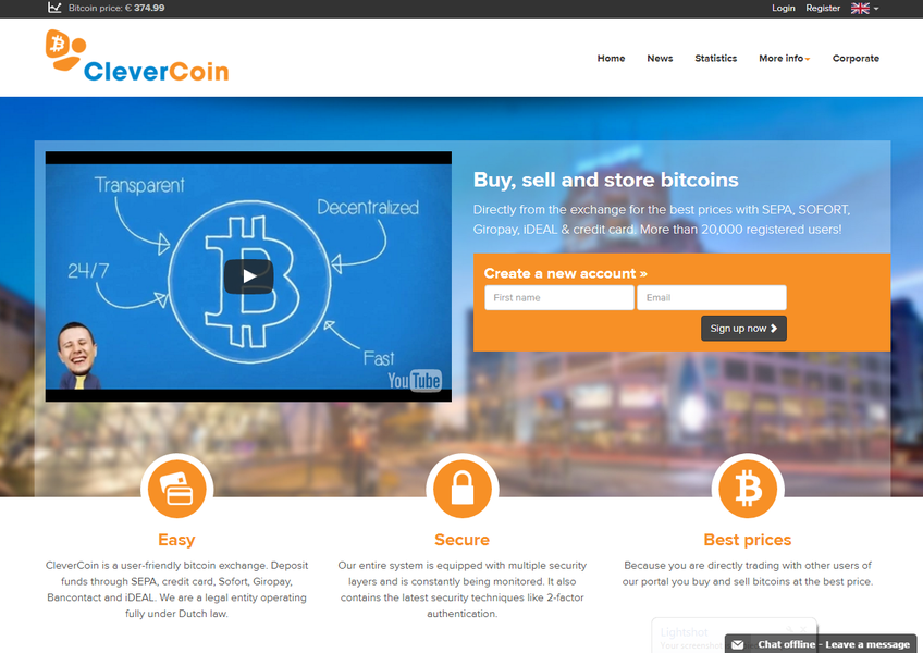 CleverCoin screenshot