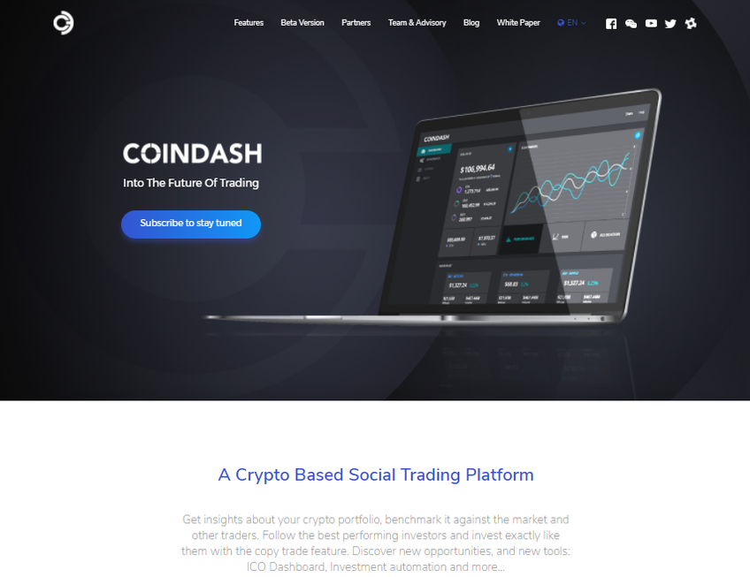 Coindash screenshot