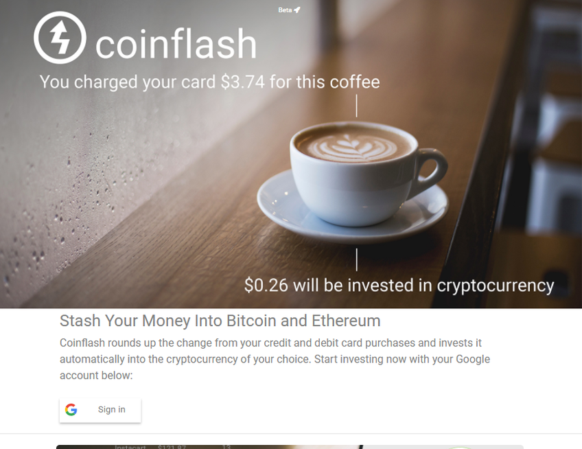 Coinflash screenshot
