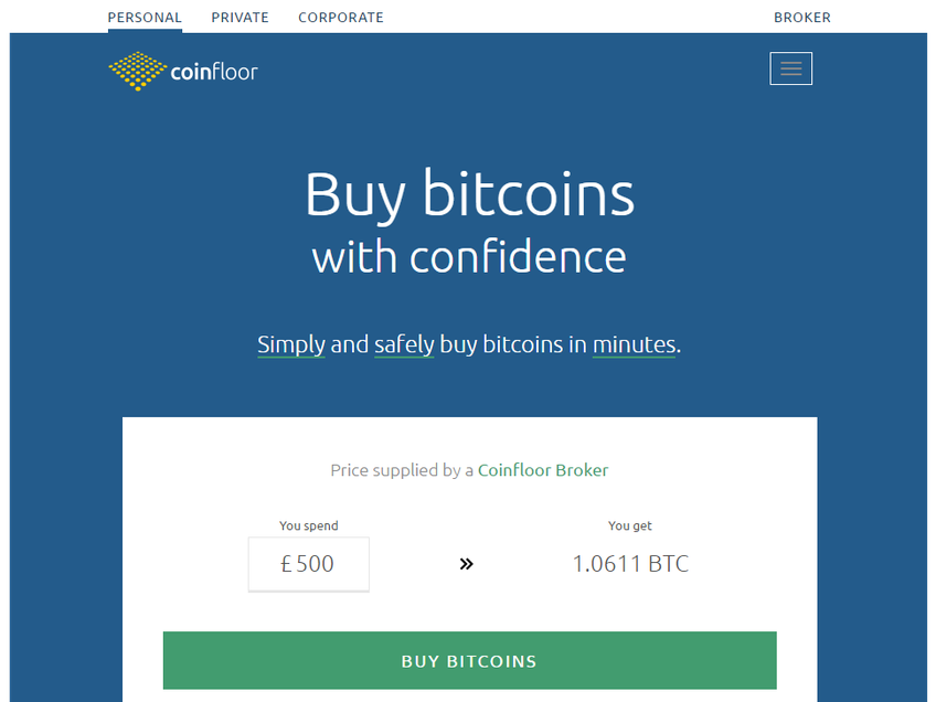 CoinFloor screenshot