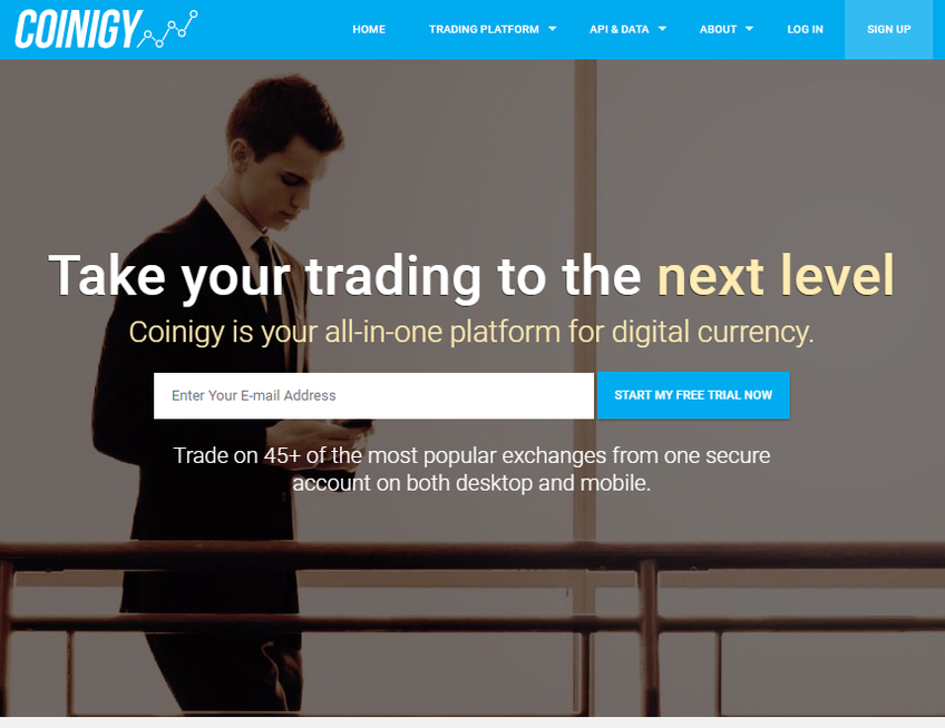 Coinigy screenshot