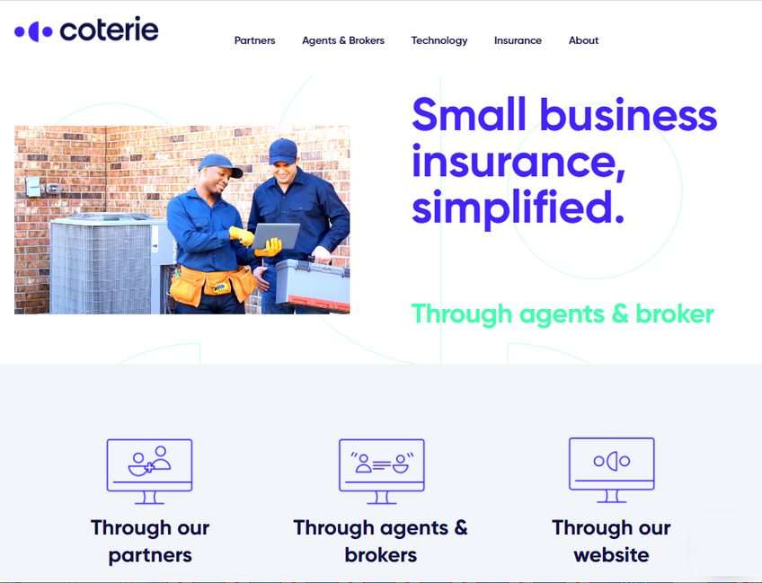 Coterie Insurance screenshot