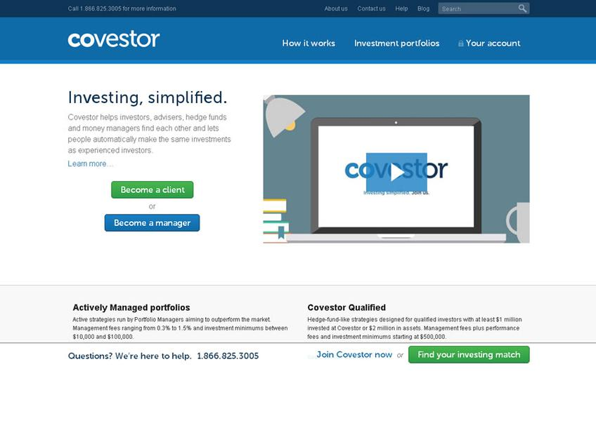 Covestor screenshot