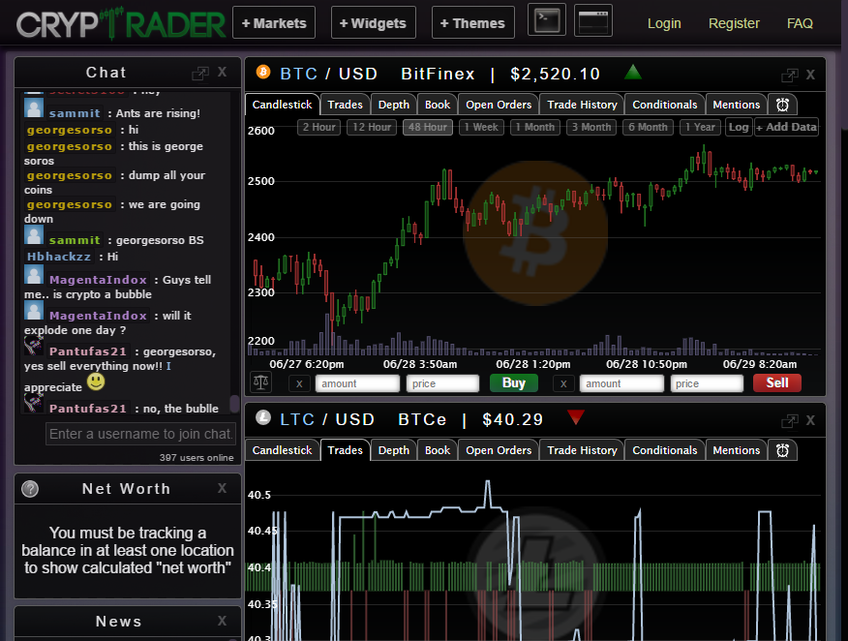 CrypTrader screenshot