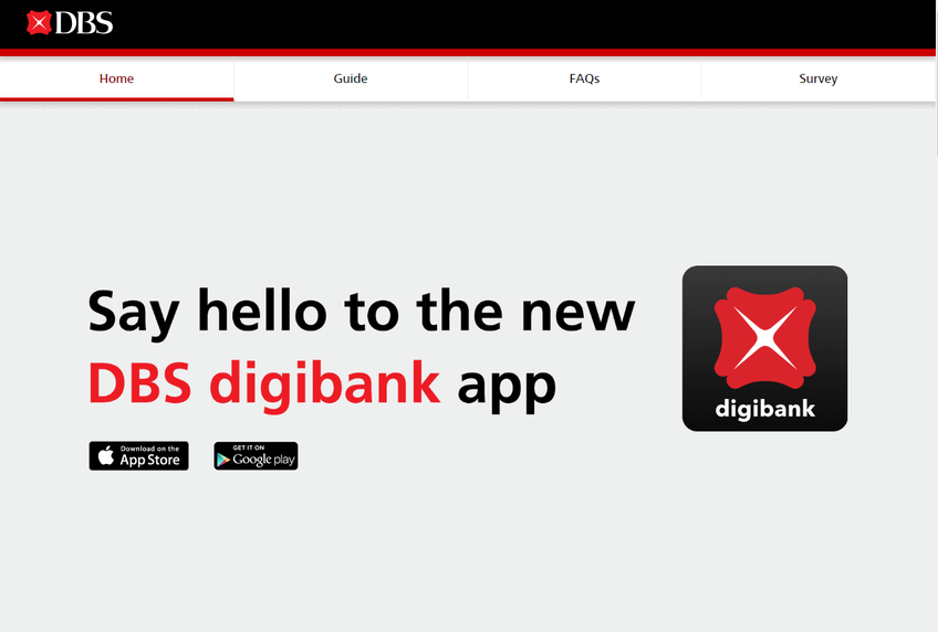 DBS Digibank screenshot