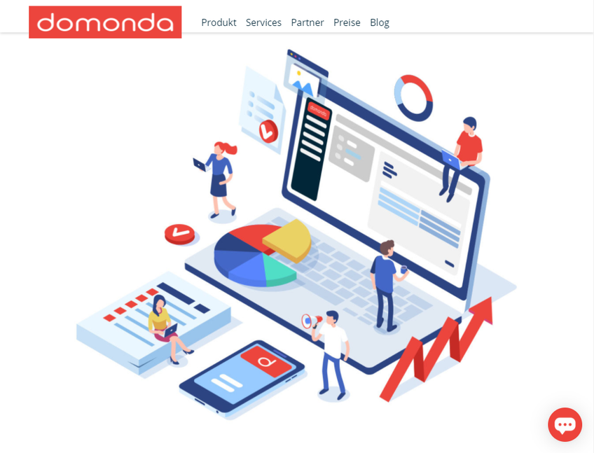 Domonda screenshot