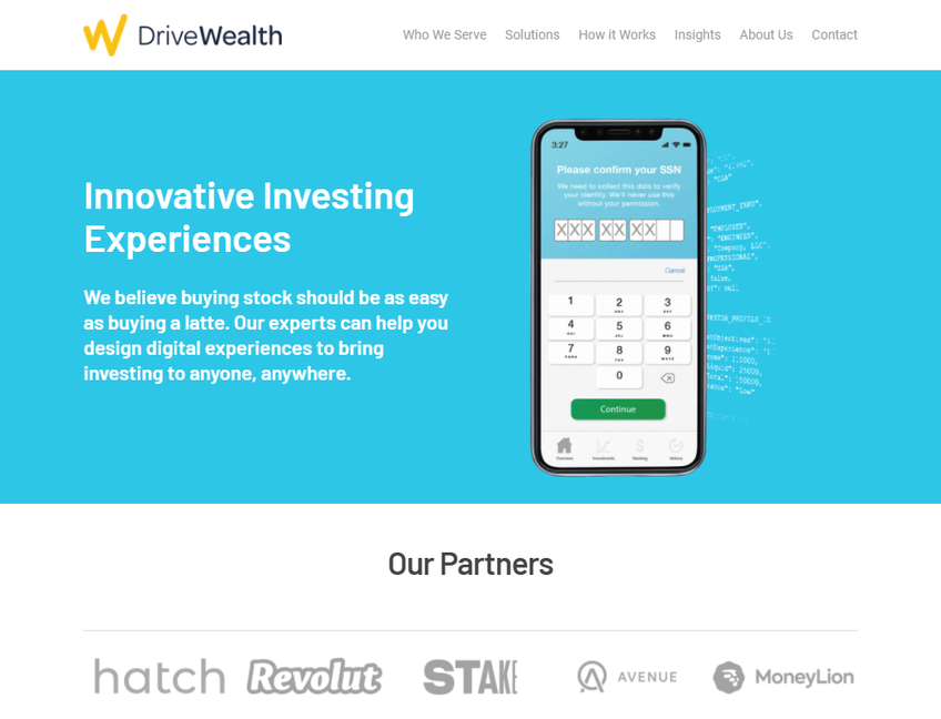 DriveWealth screenshot