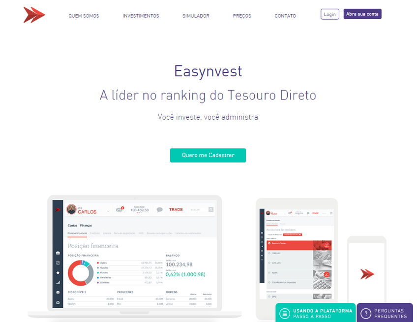 Easynvest screenshot