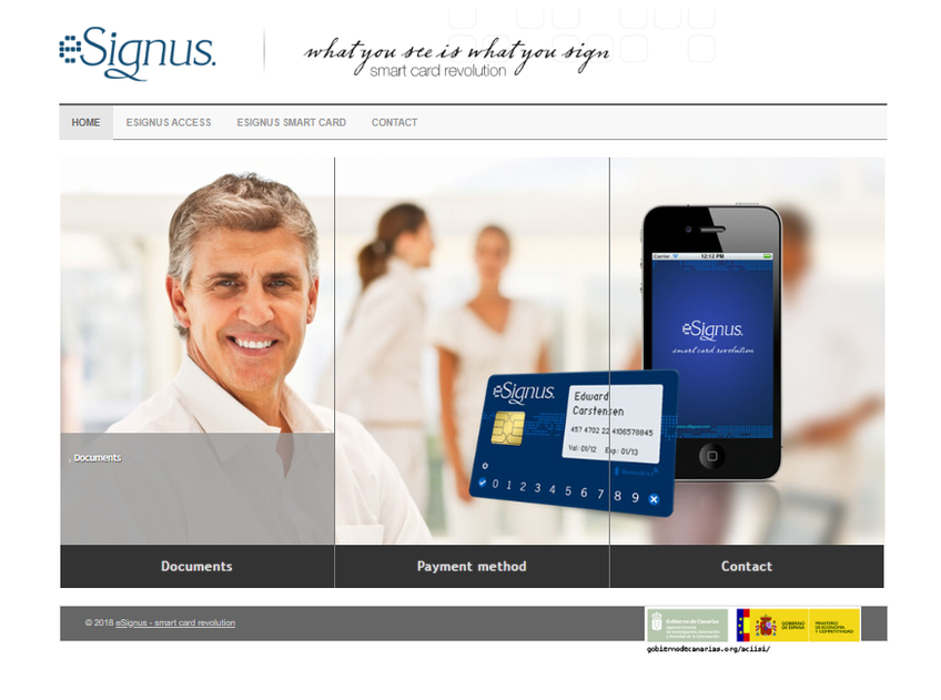 eSignus screenshot