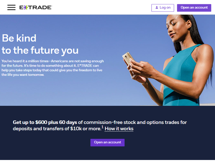 E*Trade Financial Corporation screenshot