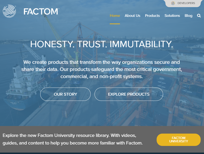 Factom screenshot