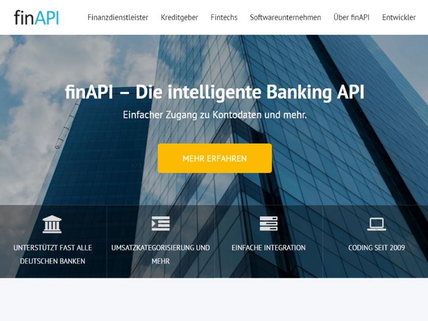 finAPI screenshot
