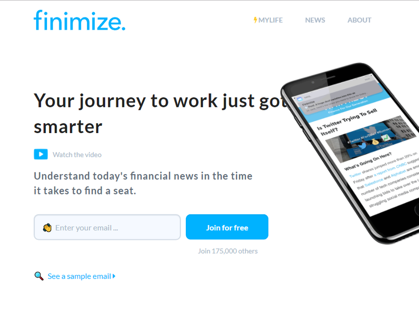 Finimize screenshot